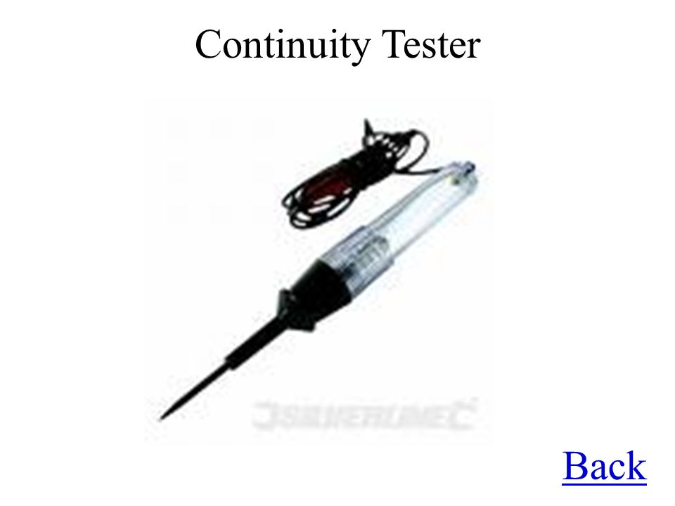 Continuity Tester Back