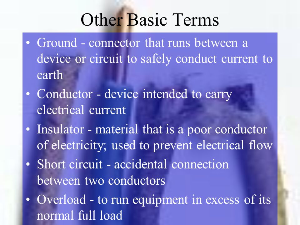 Electrical Wiring Terms - Merzie.net