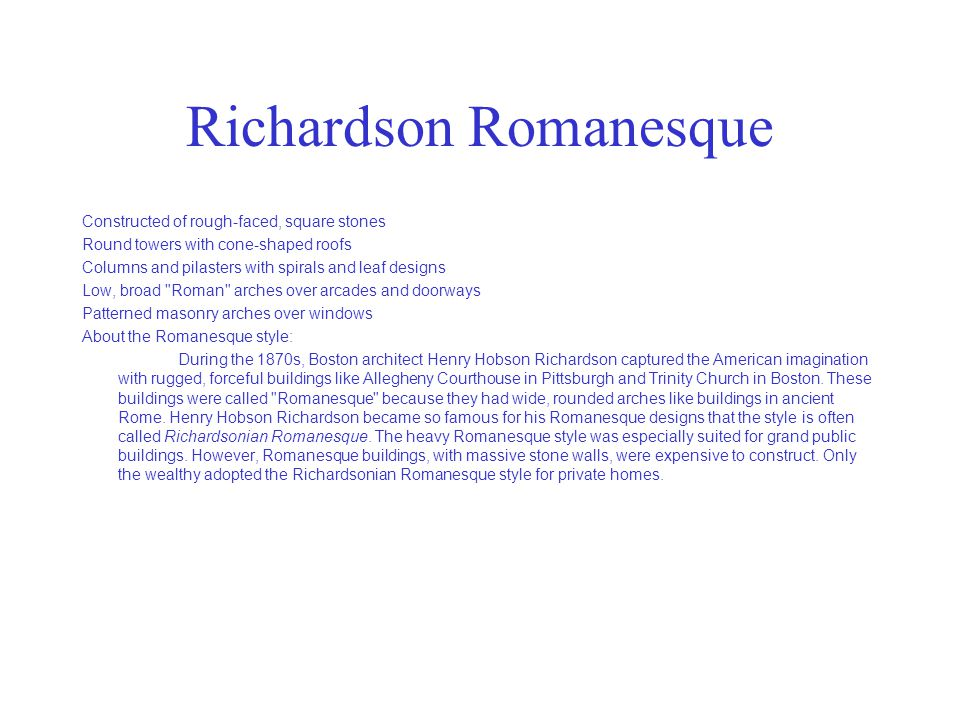 Richardson Romanesque
