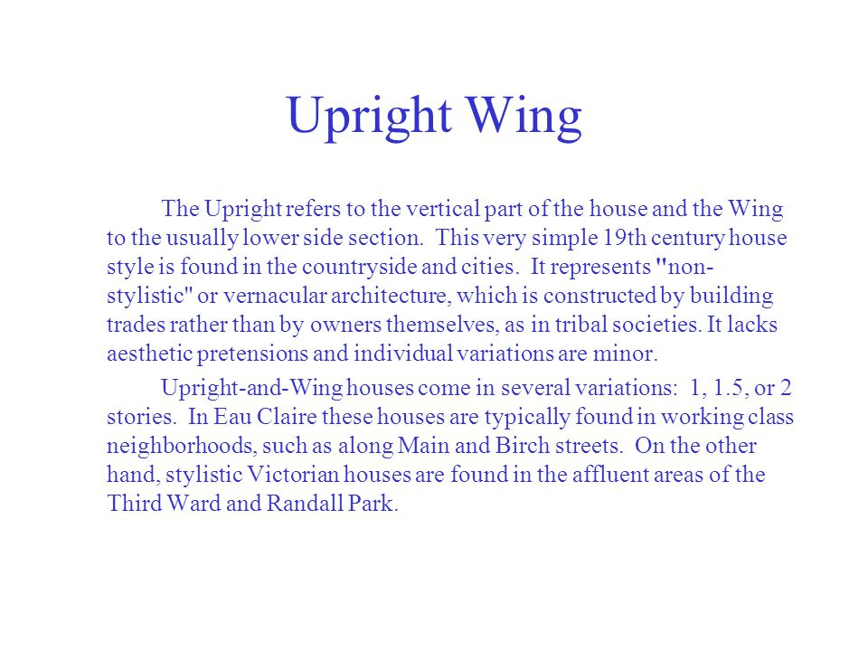 Upright Wing