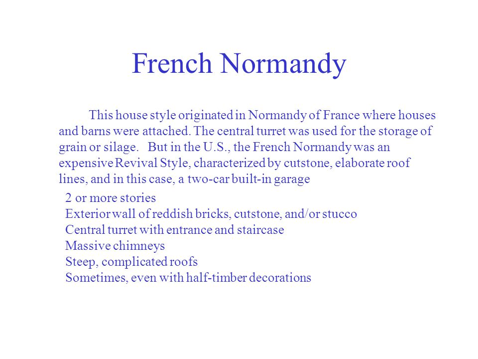 French Normandy