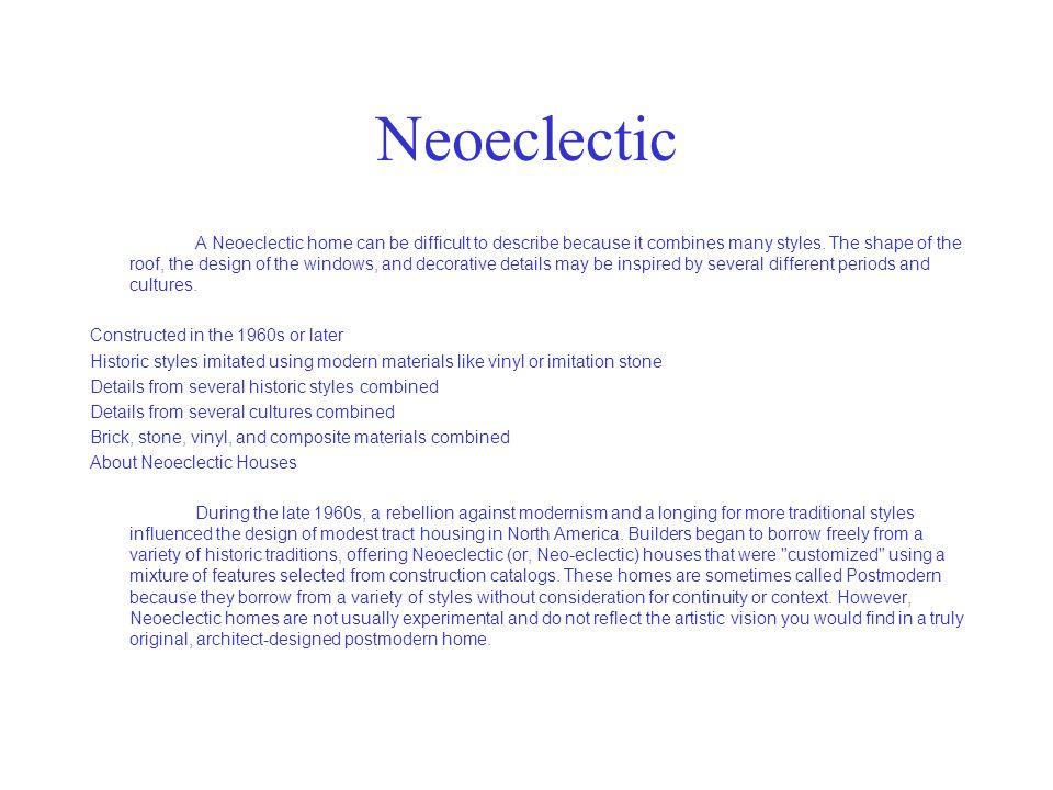Neoeclectic