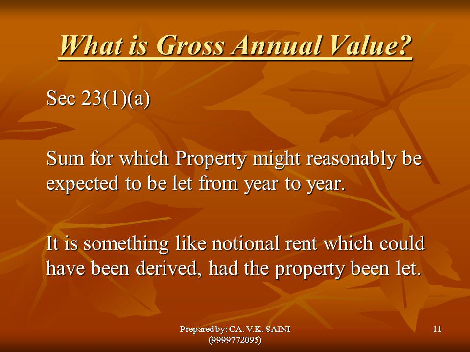 What is Gross Annual Value