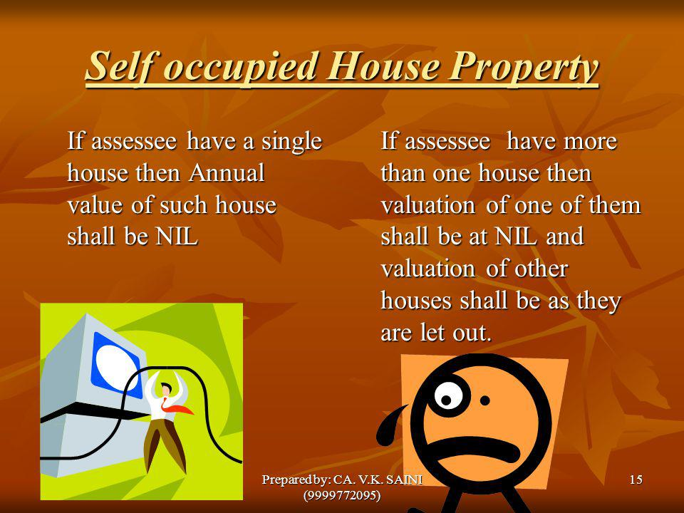 Self occupied House Property