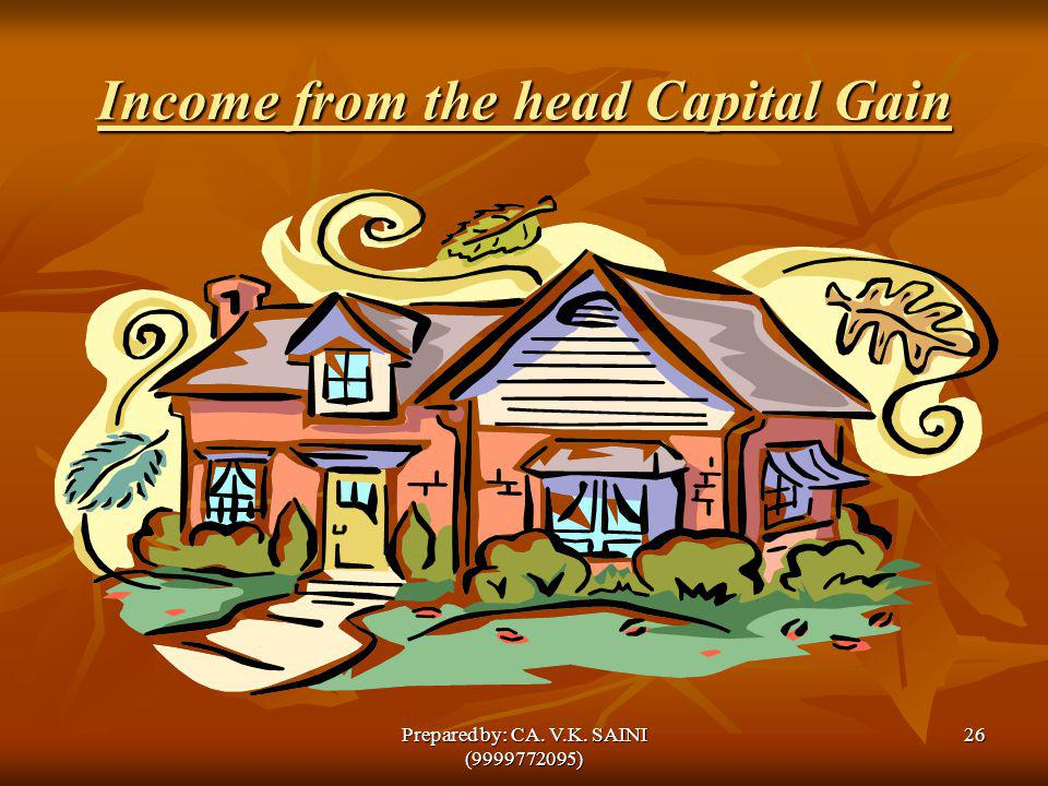 Income from the head Capital Gain