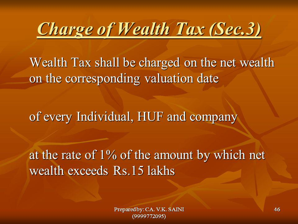 Charge of Wealth Tax (Sec.3)