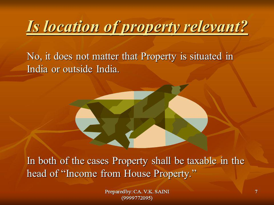 Is location of property relevant