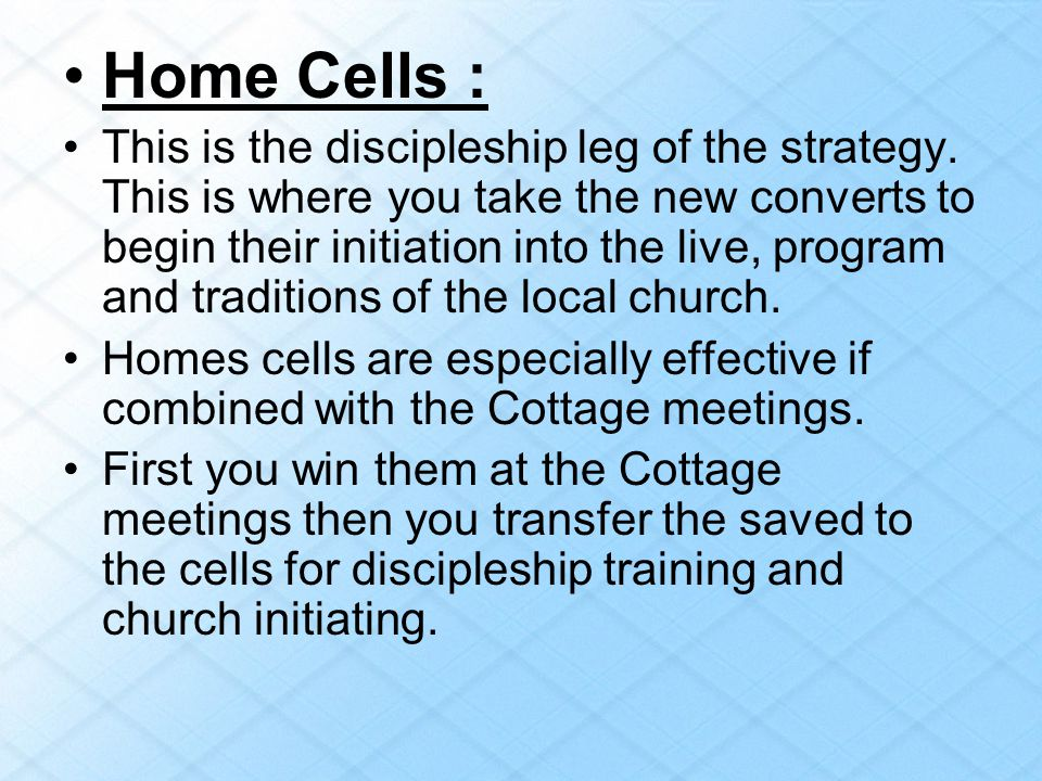 Home Cells :