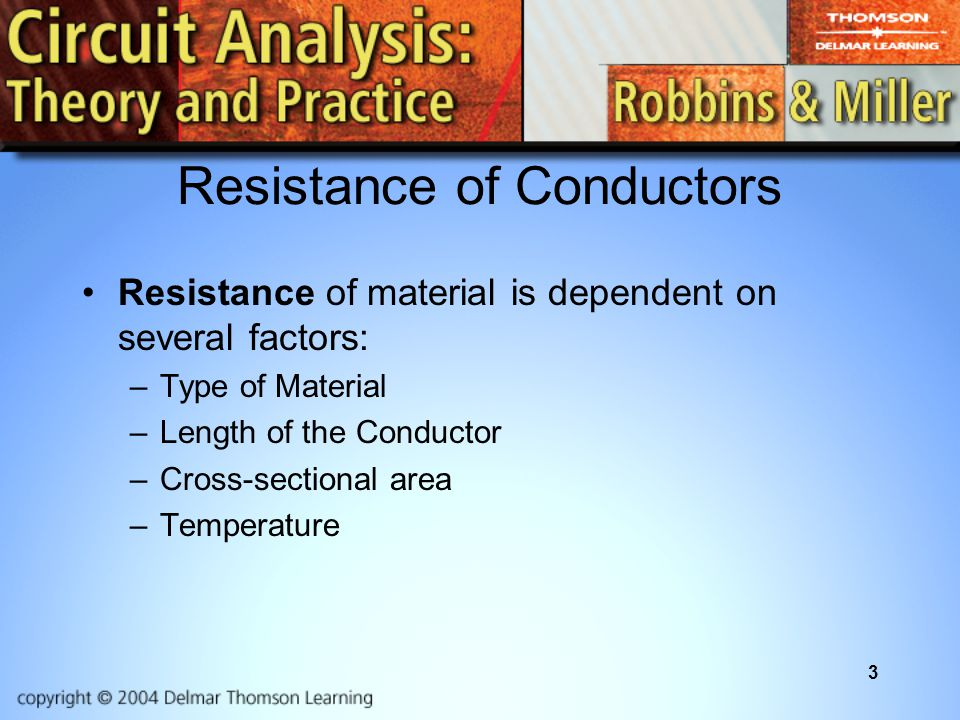 Resistance of Conductors