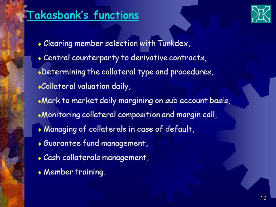 Takasbank's functions