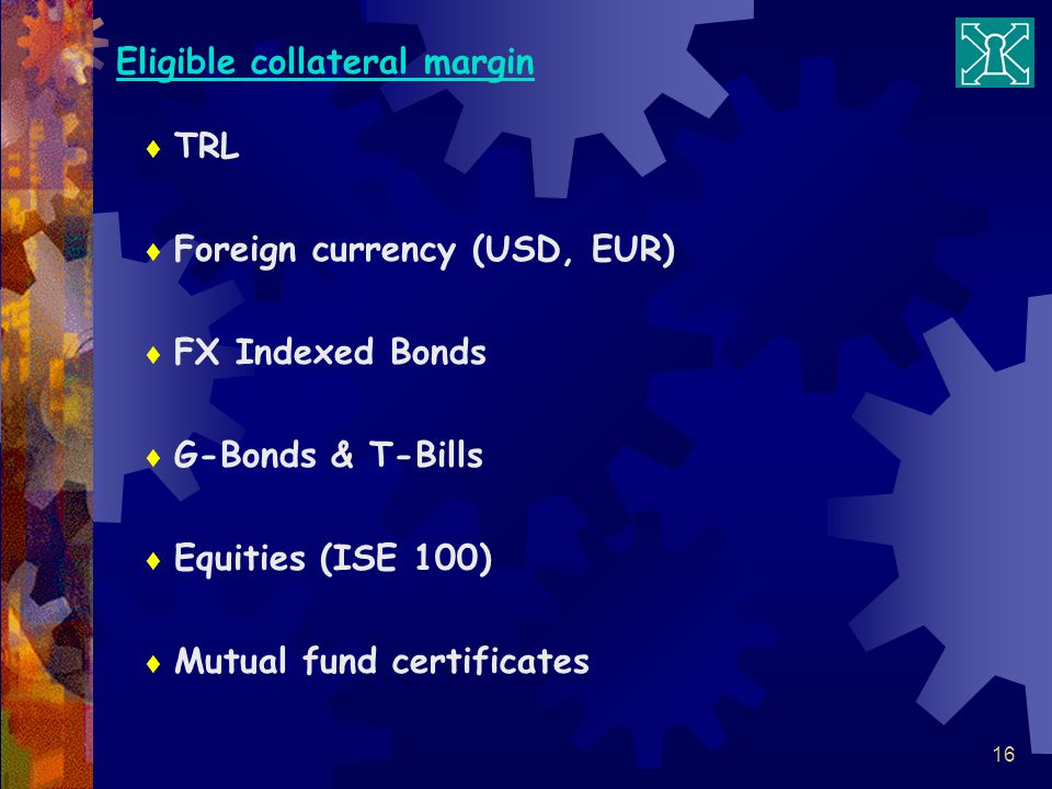 Eligible collateral margin