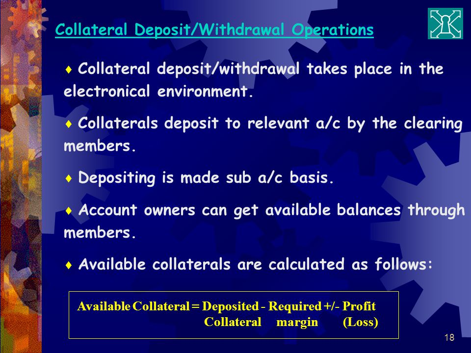 Collateral Deposit/Withdrawal Operations
