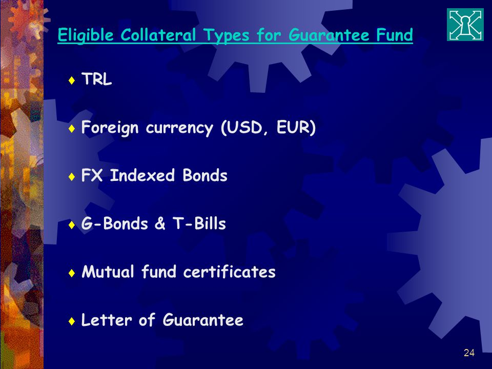 Eligible Collateral Types for Guarantee Fund