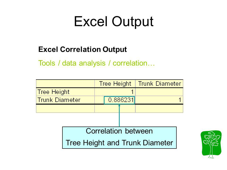 Tree Height and Trunk Diameter