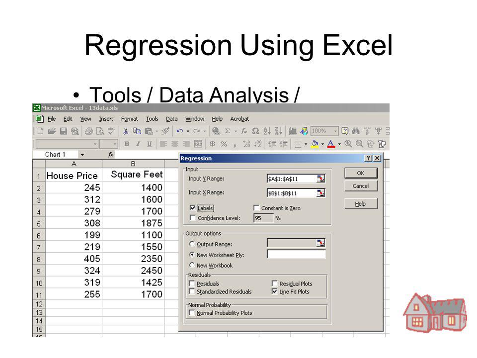 how to get regression statistics in excel