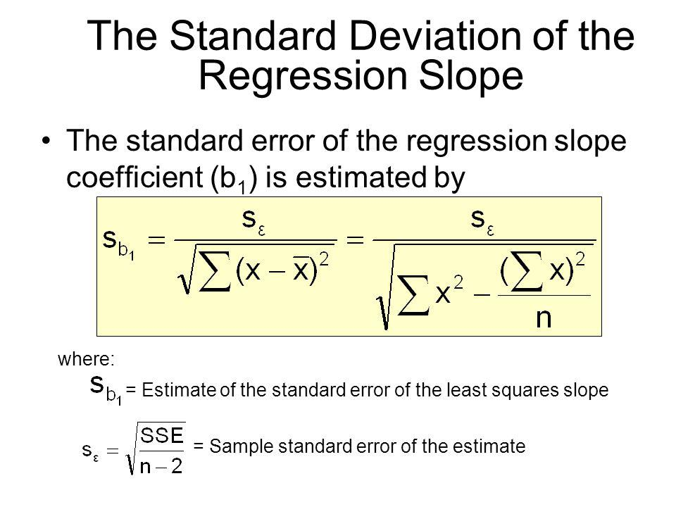 The Standard Deviation of the Regression Slope