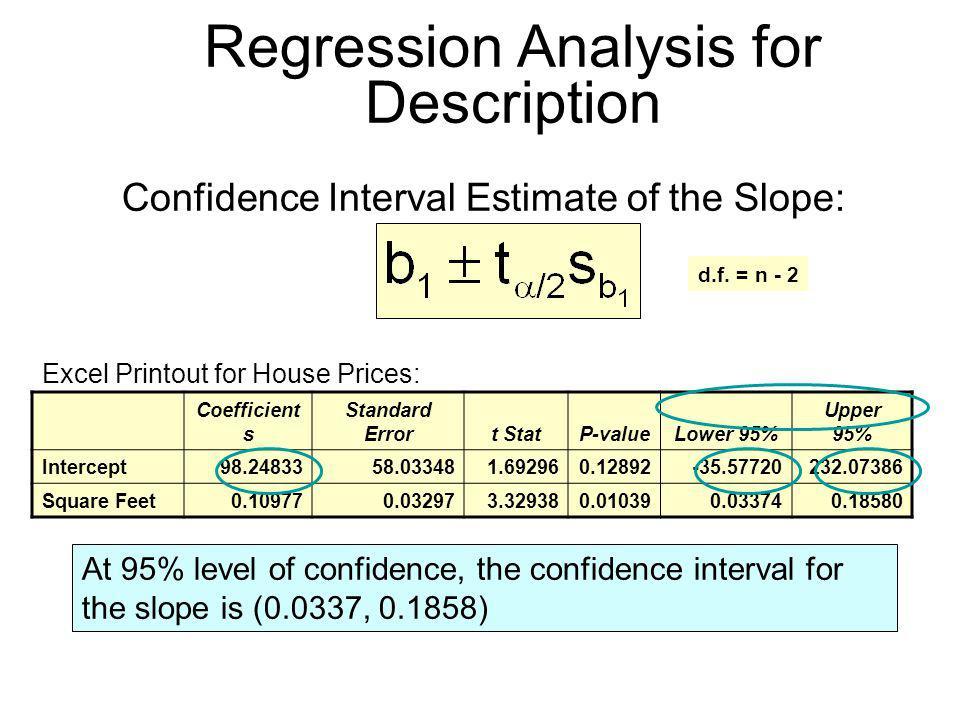 Regression Analysis for Description