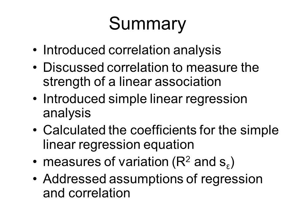 "introduction to linear regression and correlation Correlation 3 goals of linear regression:  introduction • the term ""regression"" was first used by francis galton in 19th century."