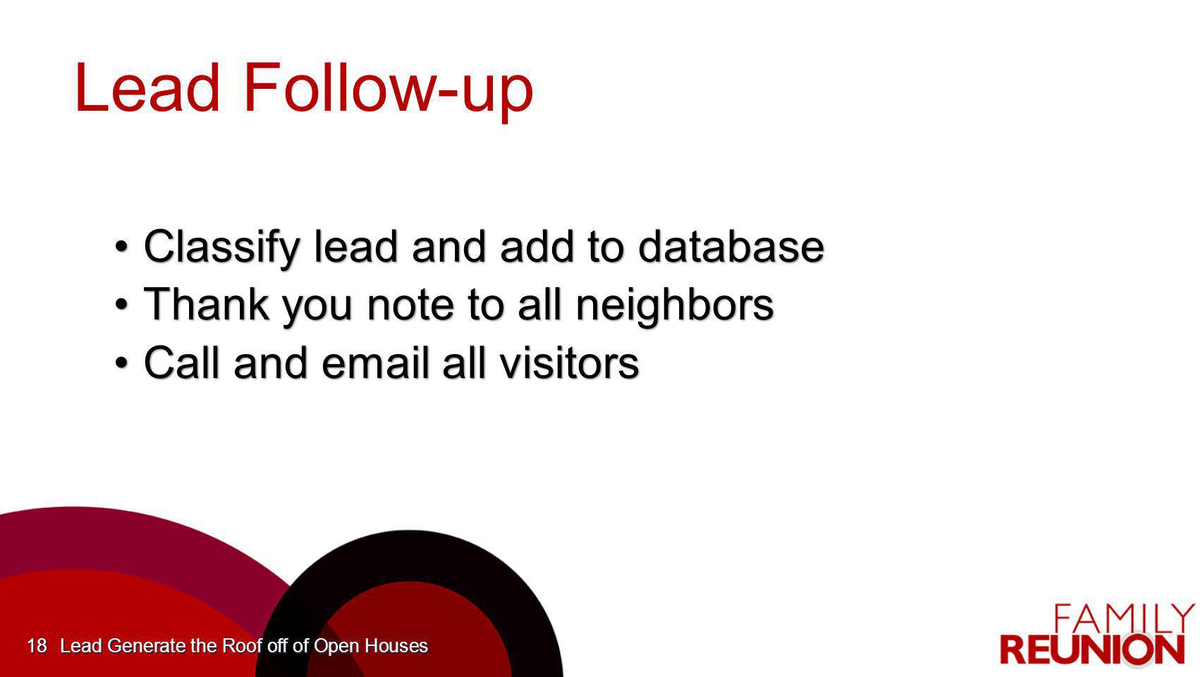 Lead Follow-up Classify lead and add to database