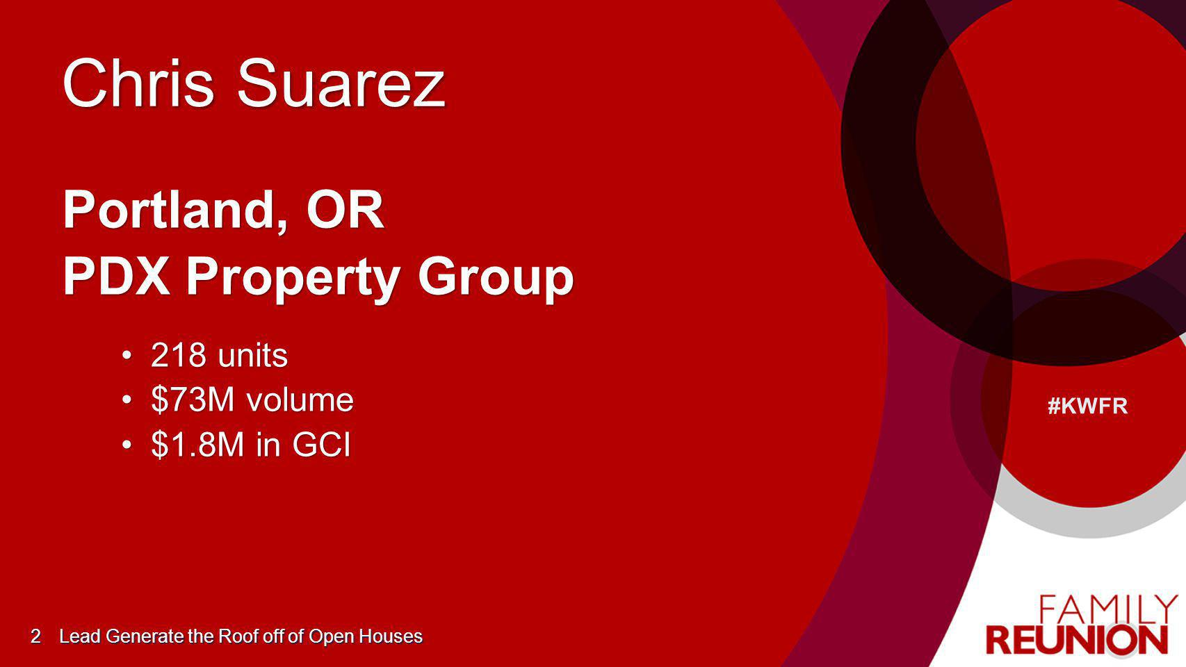 Chris Suarez Portland, OR PDX Property Group 218 units $73M volume
