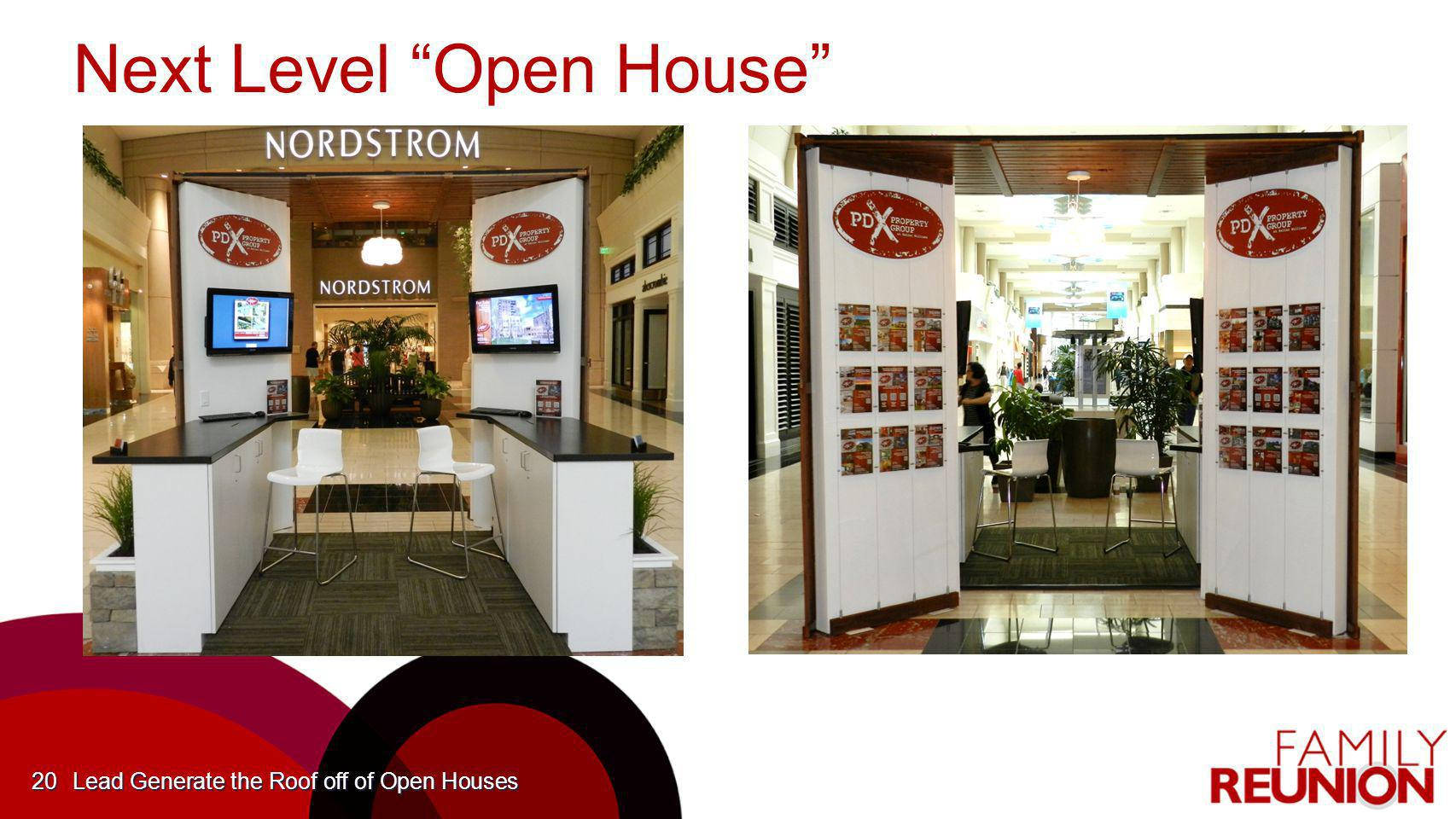 Lead generate the roof off of open houses ppt download for Next level homes