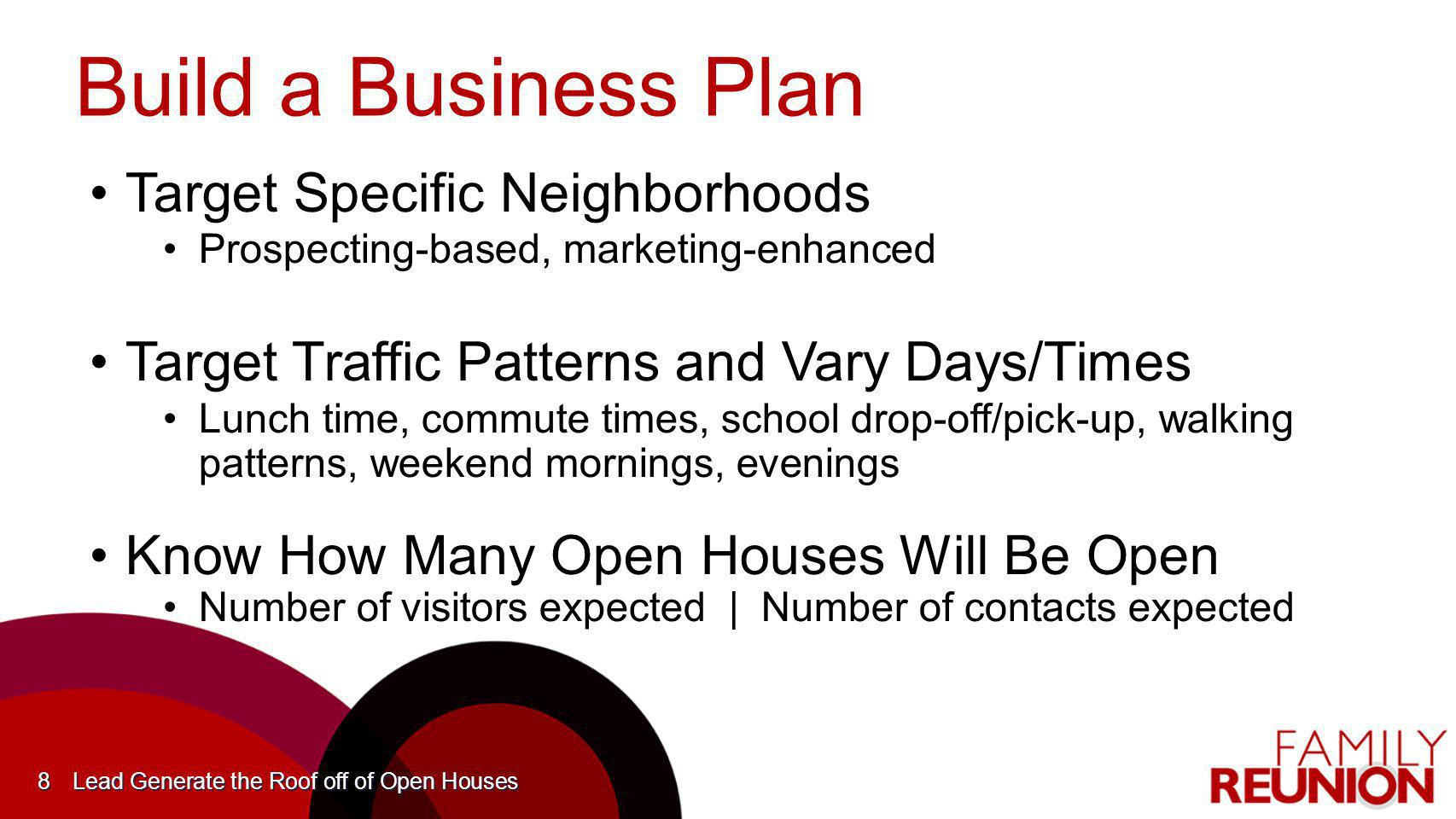 Build a Business Plan Target Specific Neighborhoods
