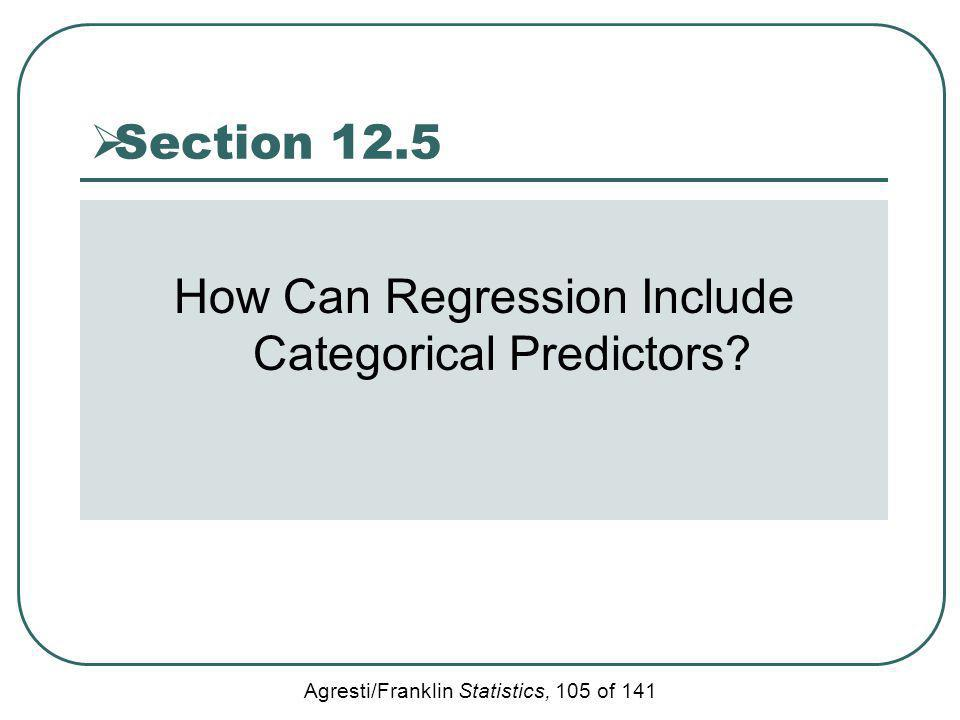 How Can Regression Include Categorical Predictors