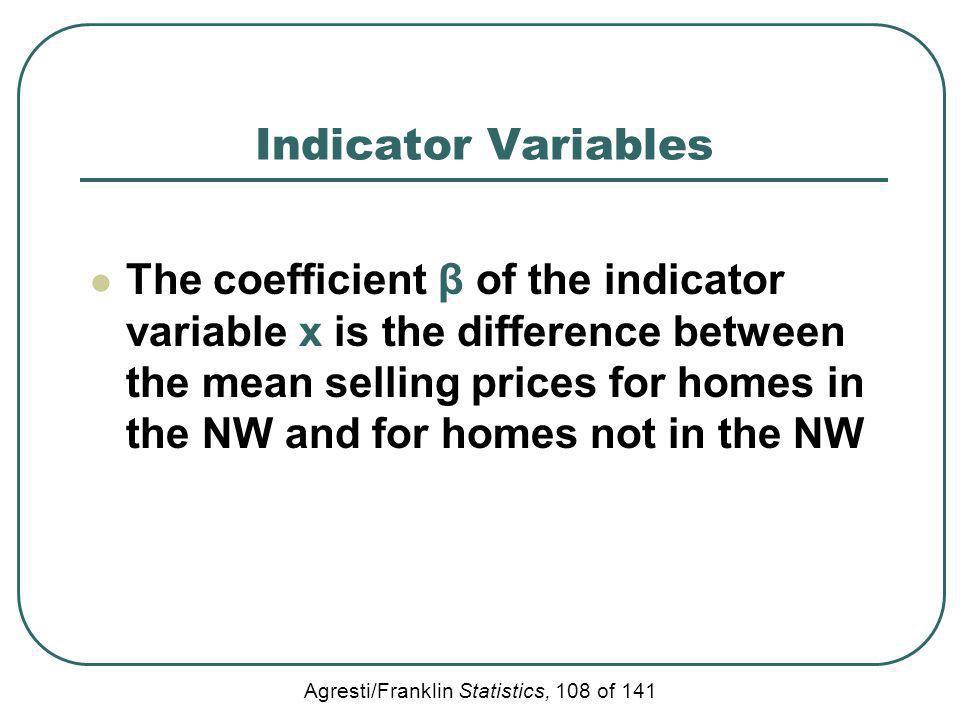 Indicator Variables