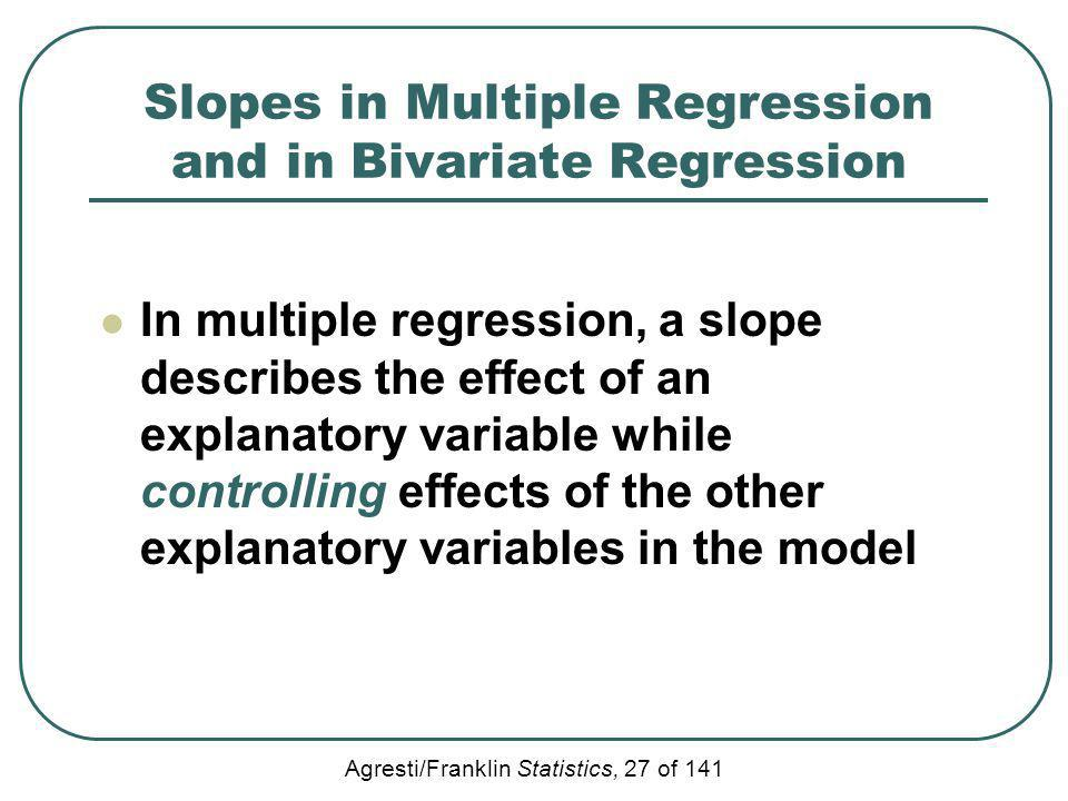 Slopes in Multiple Regression and in Bivariate Regression