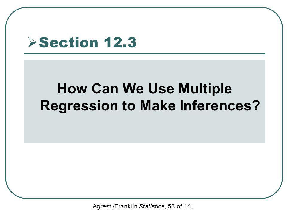 How Can We Use Multiple Regression to Make Inferences