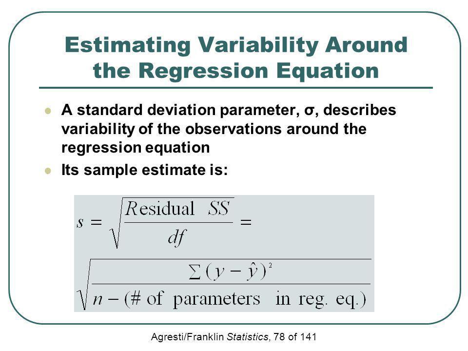 Estimating Variability Around the Regression Equation