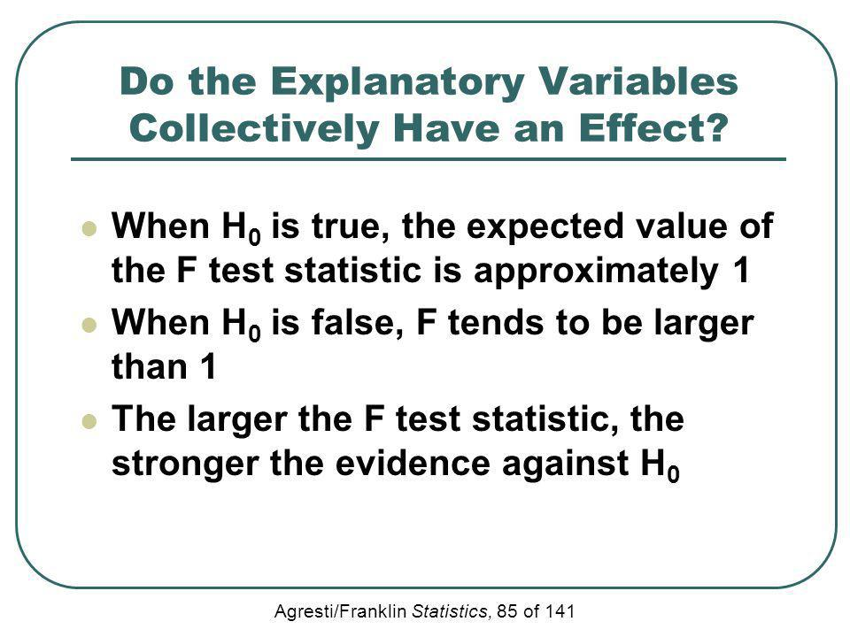 Do the Explanatory Variables Collectively Have an Effect