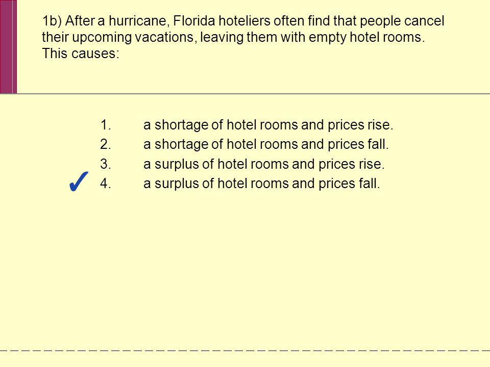 a shortage of hotel rooms and prices rise.