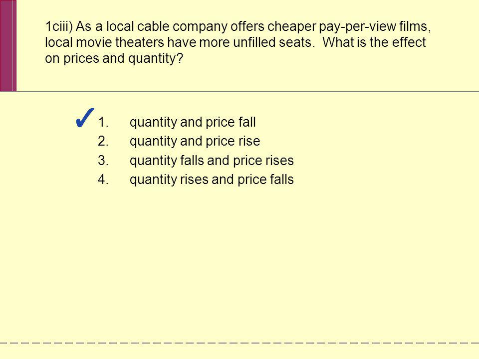 quantity and price fall quantity and price rise
