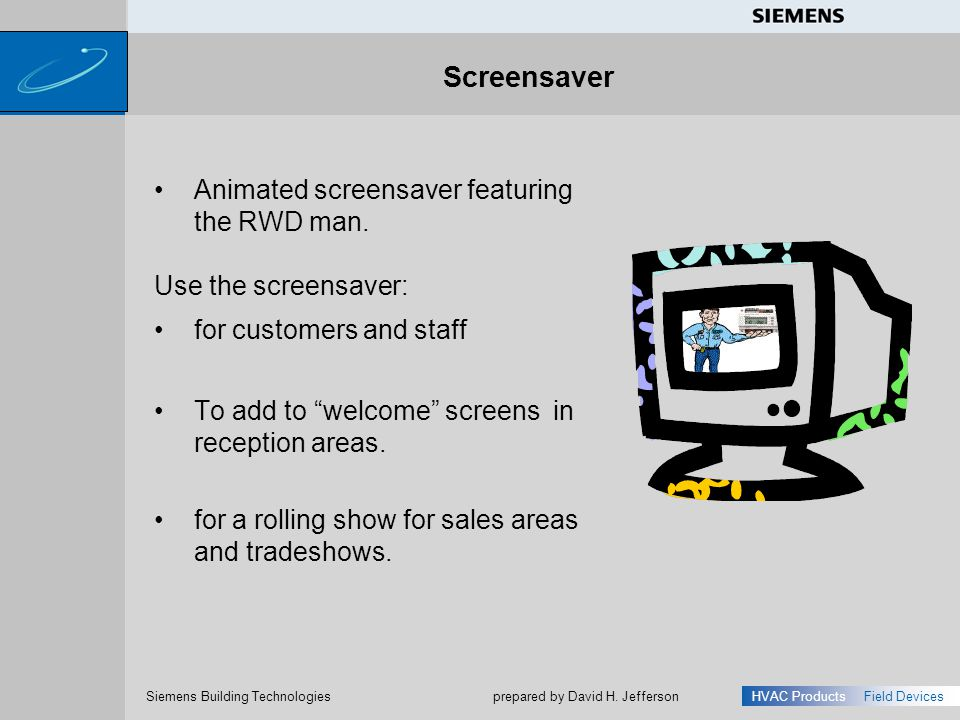 Screensaver Animated screensaver featuring the RWD man.