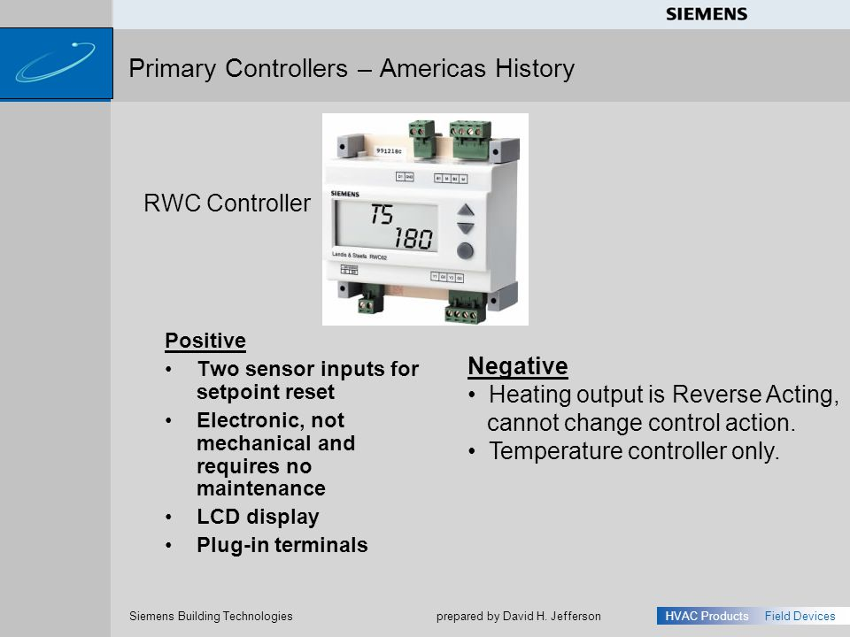 Primary Controllers – Americas History