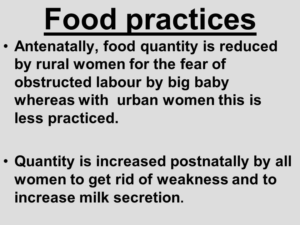 Food practices