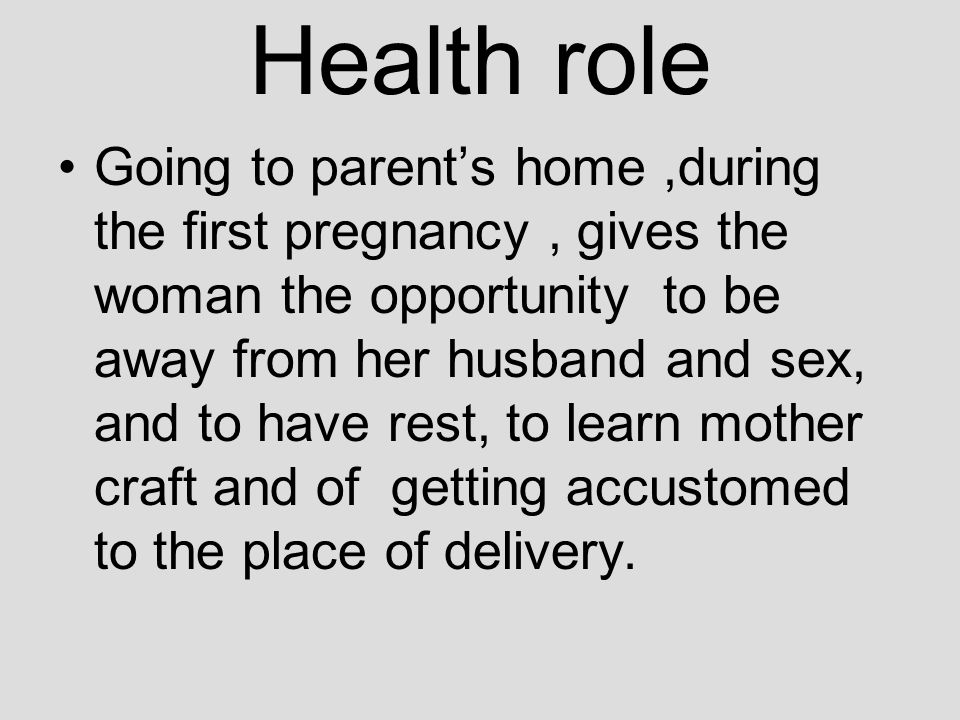 Health role