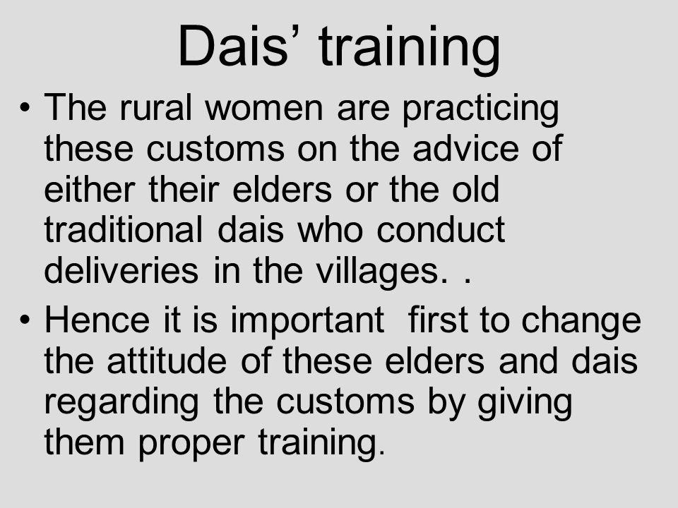 Dais' training