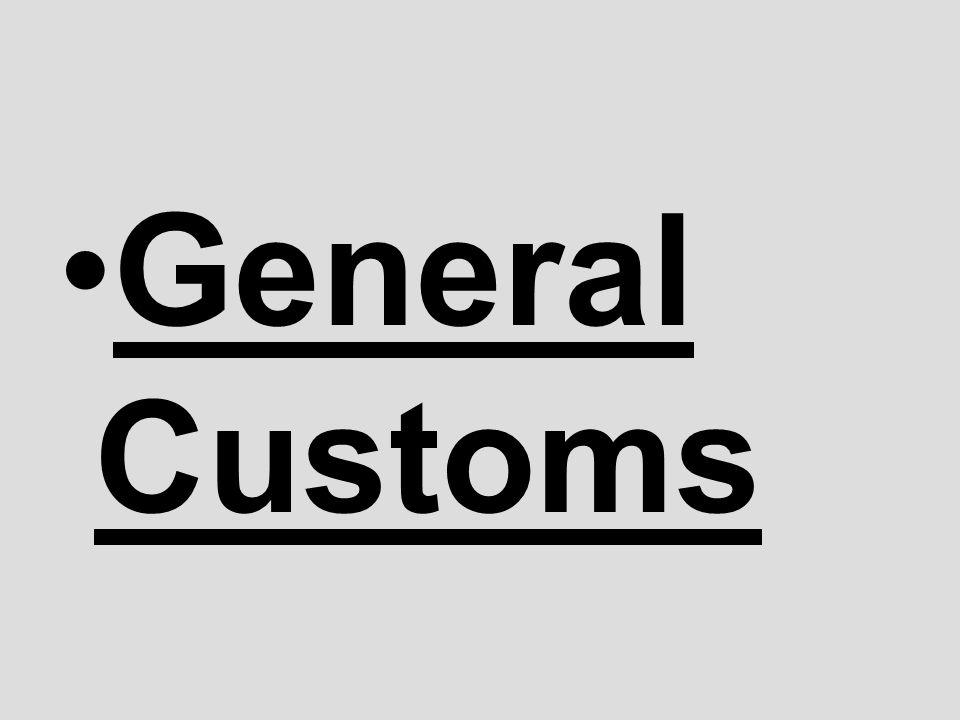 General Customs