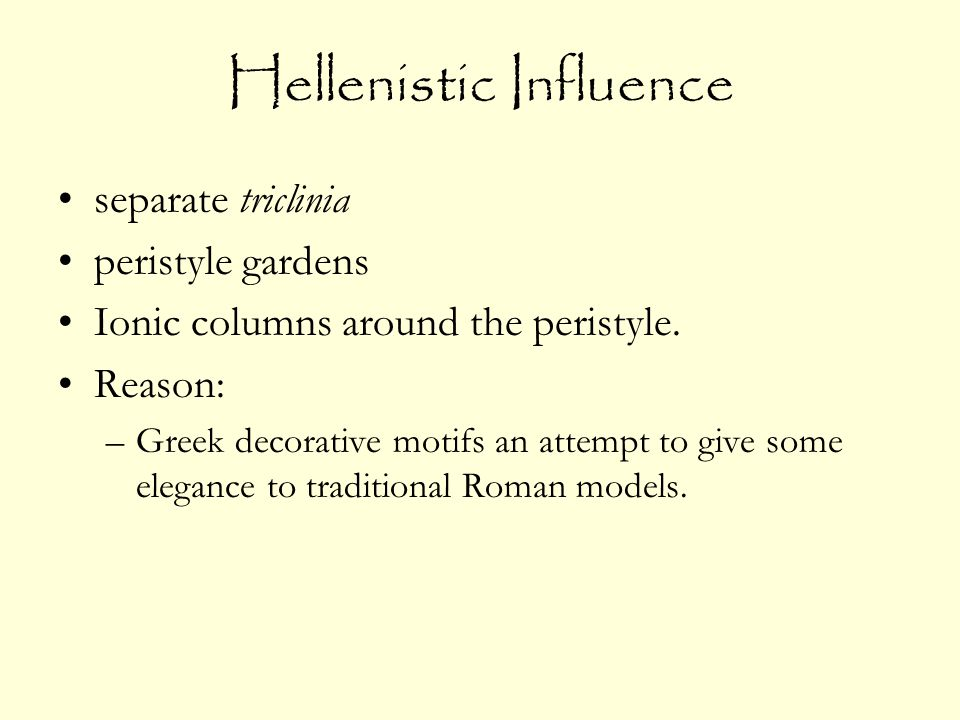 Hellenistic Influence