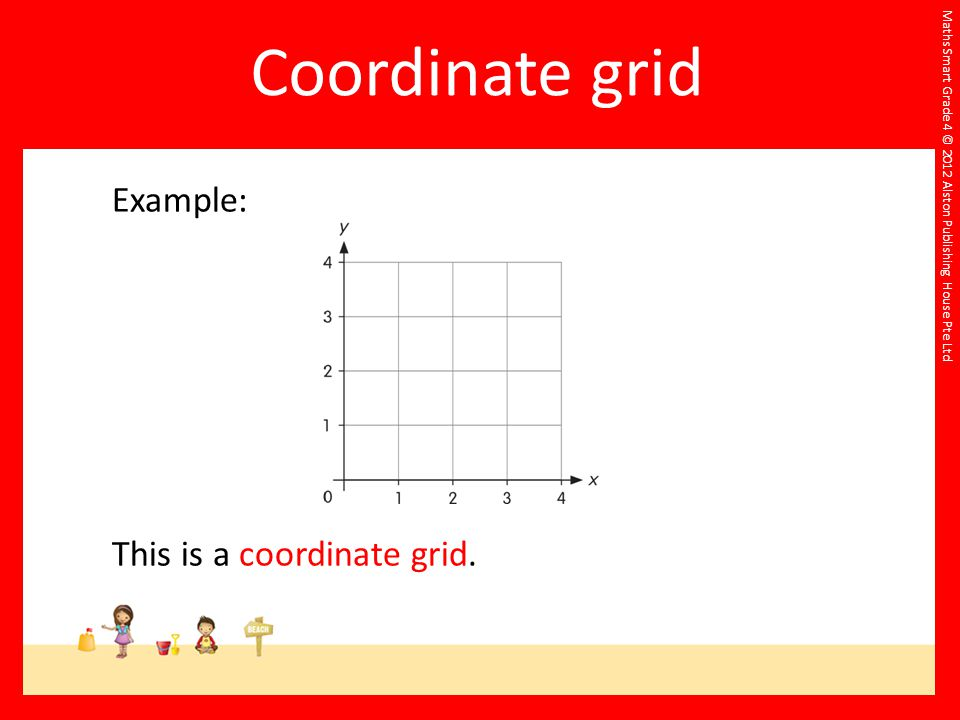 Coordinate grid Example: This is a coordinate grid.