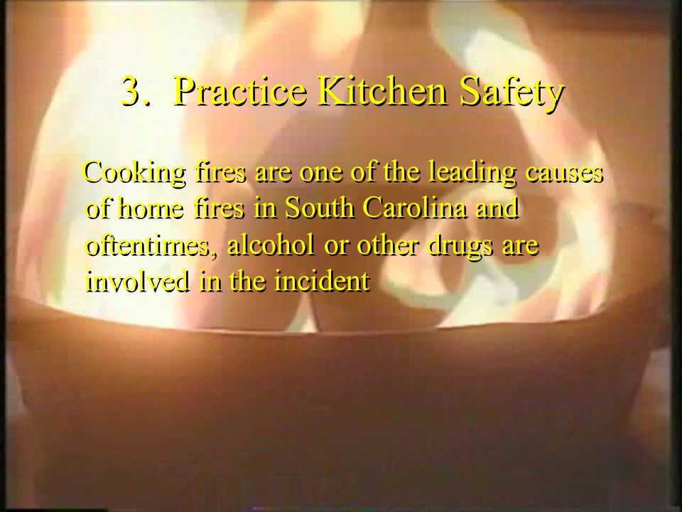 3. Practice Kitchen Safety