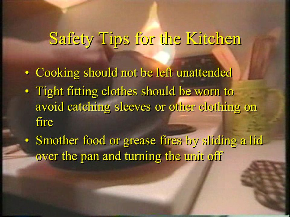 Safety Tips for the Kitchen