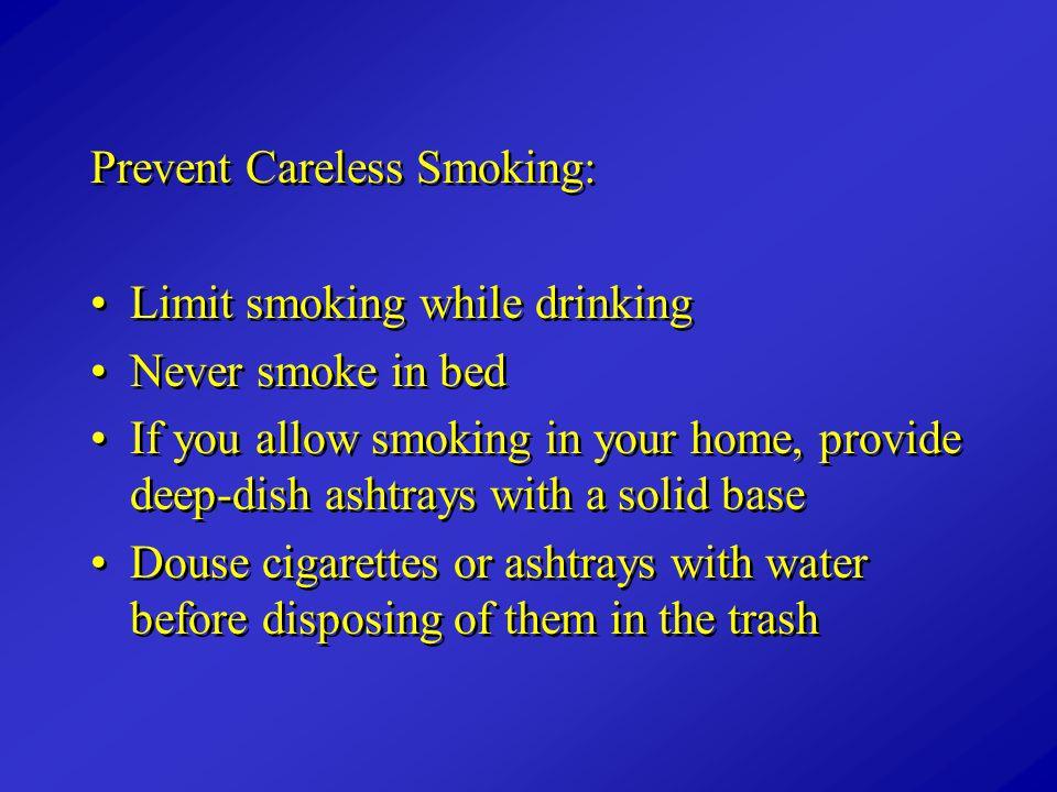 Prevent Careless Smoking: