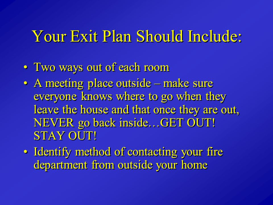 Your Exit Plan Should Include: