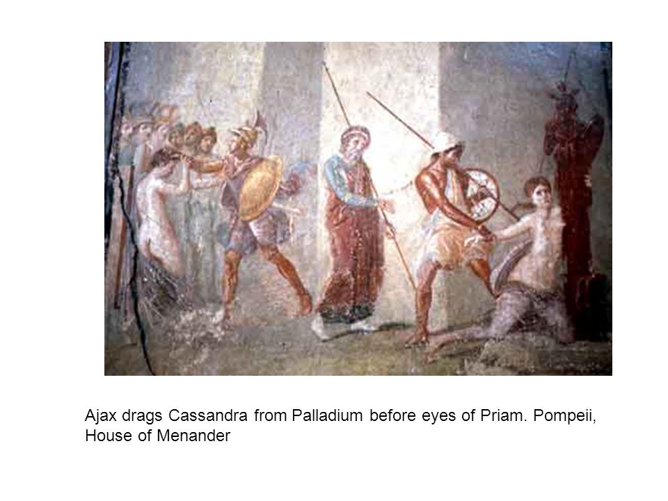Ajax drags Cassandra from Palladium before eyes of Priam