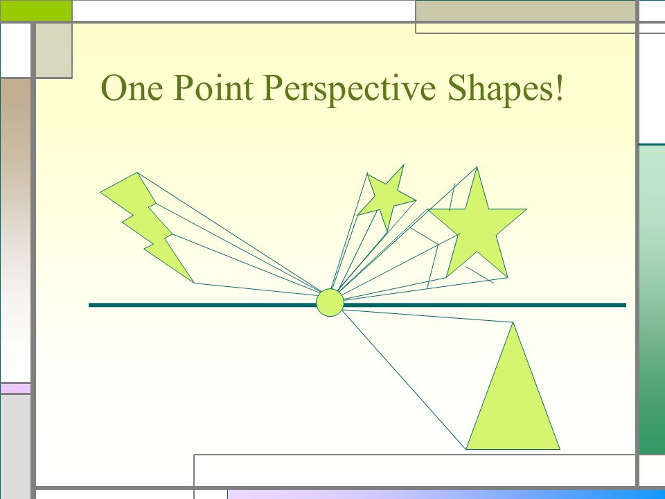 One Point Perspective Shapes!