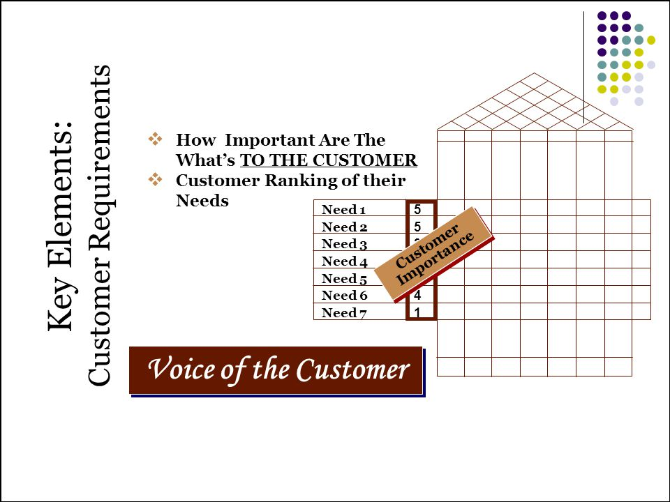 Key Elements: Customer Requirements
