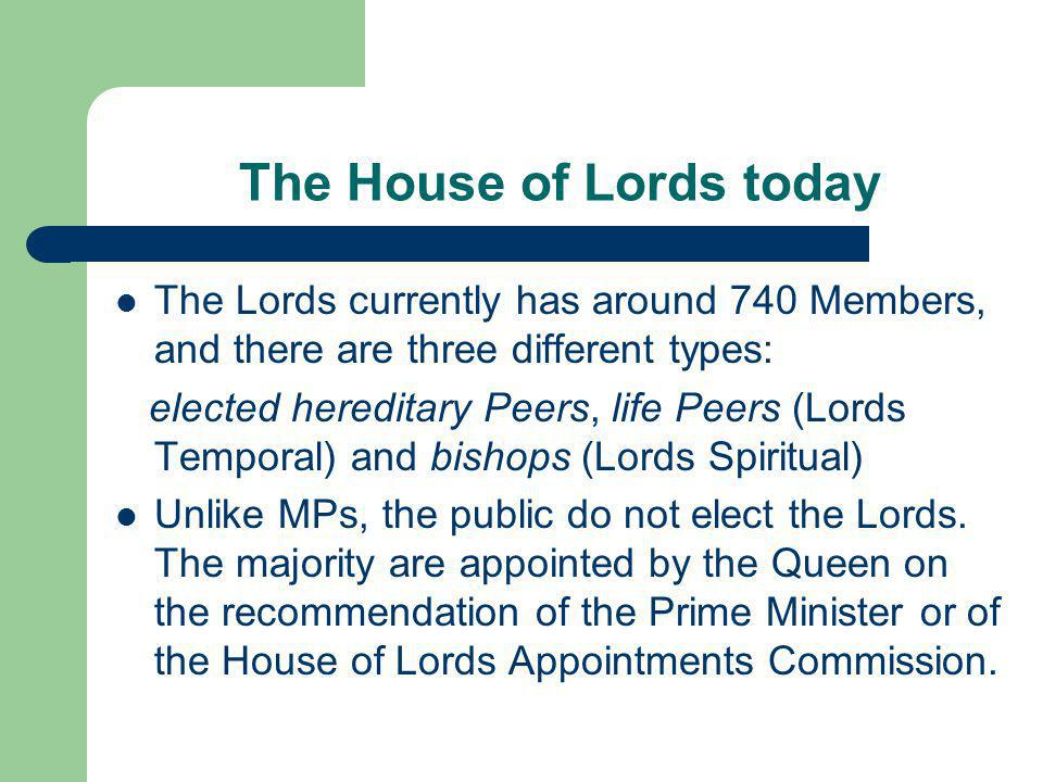 The House of Lords today